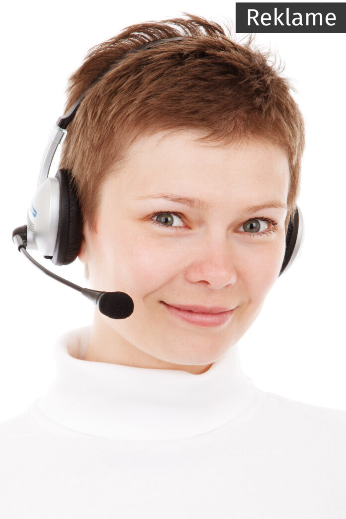 receptionist med headset